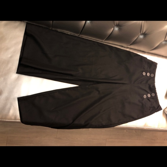 Zara Pants - Zara flare pants, black with 6 decorative buttons